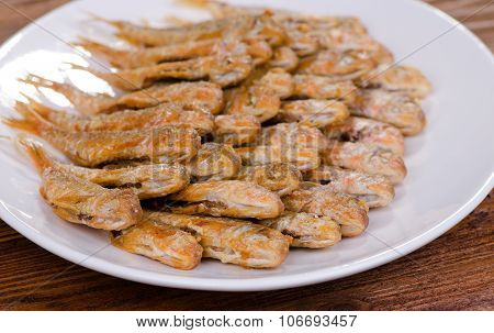 Fried Fish, A Lot Of Red Mullet