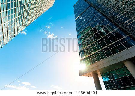 Skyscraper facade office buildings modern glass