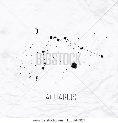 astrology elements aquarius on white