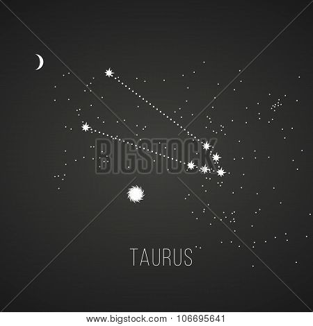 Astrology sign Taurus on chalkboard background