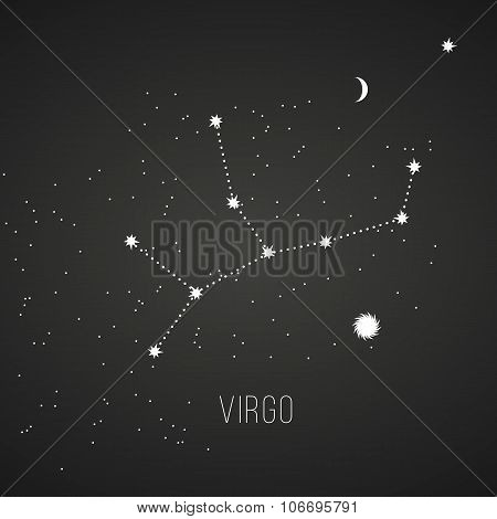 Astrology sign Virgo on chalkboard background