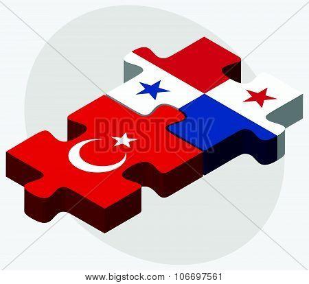 Turkey And Panama Flags