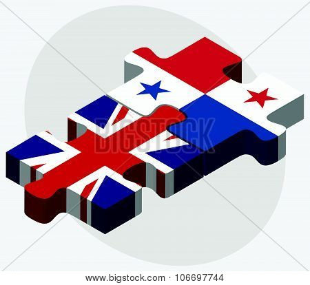 United Kingdom And Panama Flags