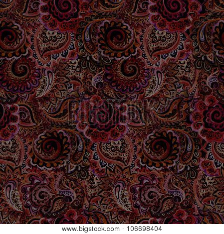 Muted seamless pattern of tapestry design