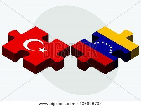 Turkey And Venezuela Flags