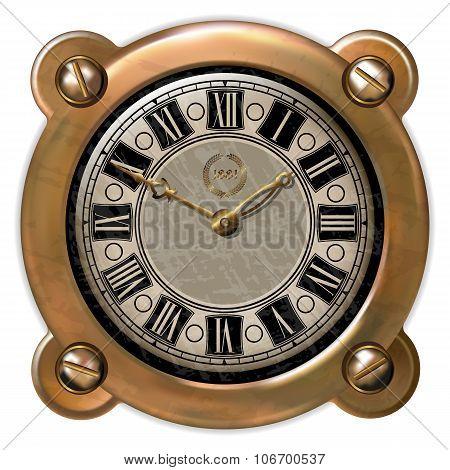 Ancient clock ector