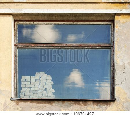 Weathered wall with  window
