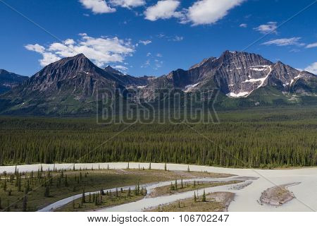 Panorama Of Mount Christie And Mount Fryatt