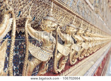 Group Of Golden Statues In Athai Temple