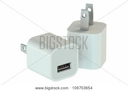 White Charger Usb