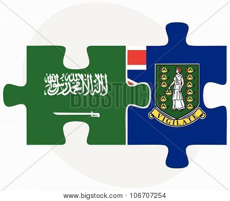 Saudi Arabia And Virgin Islands (british) Flags