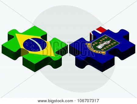 Brazil And Virgin Islands (british) Flags