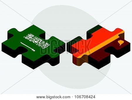 Saudi Arabia And Sri Lanka Flags