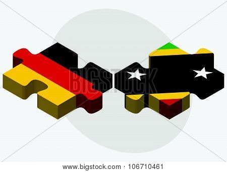 Germany And Saint Kitts And Nevis Flags