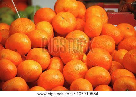 fresh raw lot mandarin on counter