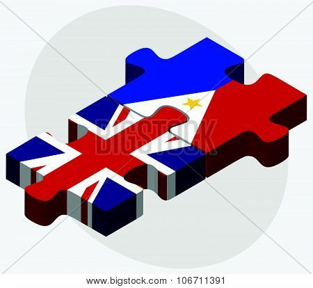United Kingdom And Philippines Flags