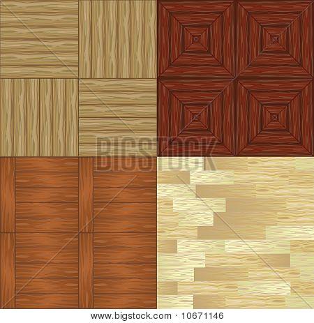 Set Of Seamless Backgrounds A Wooden Parquet