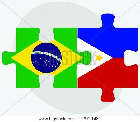 Brazil And Philippines Flags