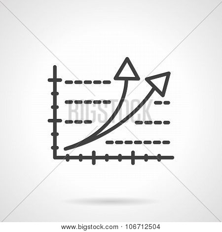 Rating black line vector icon