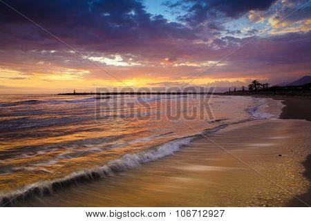 Sunset At Cabopino