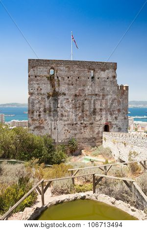 The Moorish Castle's Tower Of Homage In Gibraltar