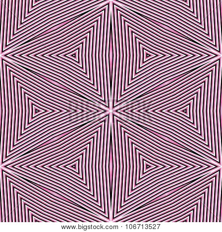 Tileable pink geometric colorful pattern in retro style