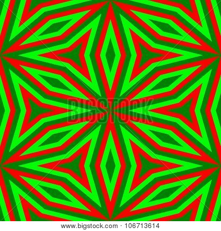 Abstract floral vibrant red green pattern