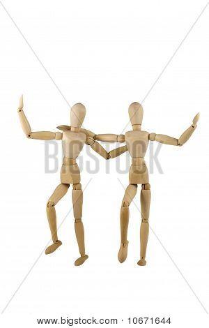 Dancing Wooden Dumies