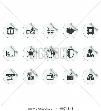 Bank Icons | Sticky series