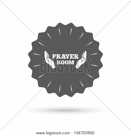 Prayer Room Sign Icon Religion Priest Symbol Poster Id106720892
