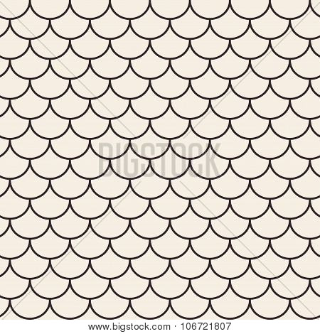 Roof tile geometric seamless pattern.