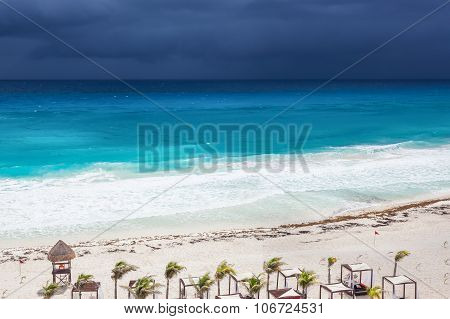 Rainy Cloudly Weather In Cancun