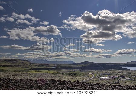 Landscape and clouds in Iceland