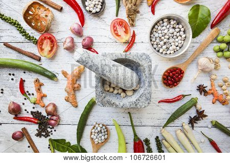 Thai Food Ingredients, Vegetable, Spicy Taste