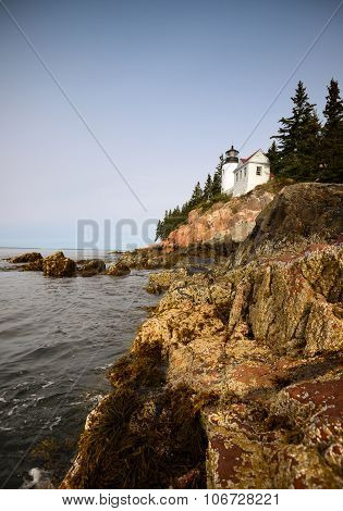 Beautiful Image Of The Bass Harbor Lighthouse In Maine