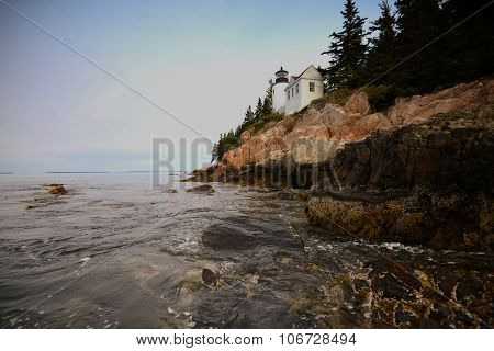 Beautiful Image Of The Bass Harbor Lighthouse In Maine And Acadia National Park
