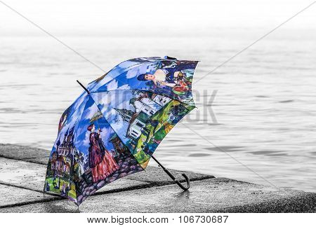 Umbrella On The Waterfront