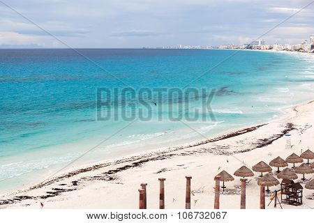 Cancun Beach Panorama View