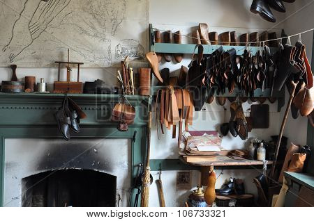 Shoemaker in Colonial Williamsburg, Virginia