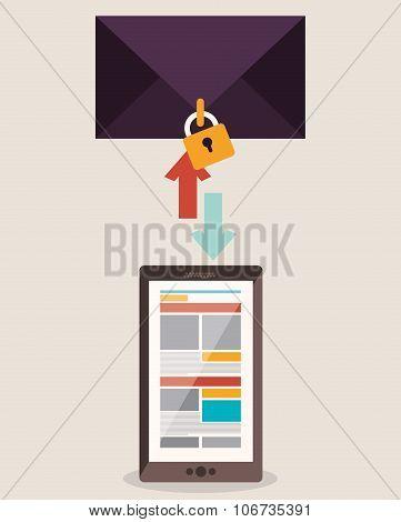 social media , vector illustration