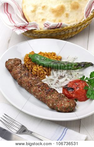 adana kebab, minced meat kebab, turkish food