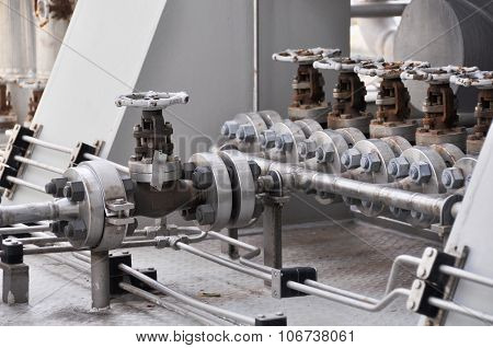Valve control in turbine skid. Many valve set for control production process and control by human