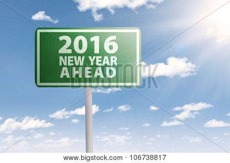 Signpost For 2016 New Year Ahead