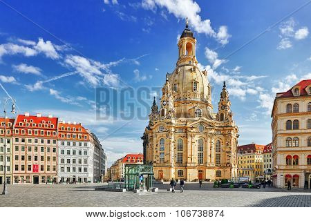 Dresden, Germany- September 08, 2015 :dresden Frauenkirche (church Of Our Lady) Is A Lutheran Church