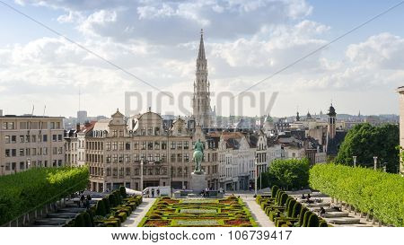 Mont Des Arts (mount Of The Arts) Gardens In Brussels