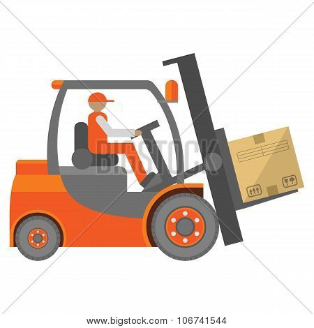 Forklift truck sign
