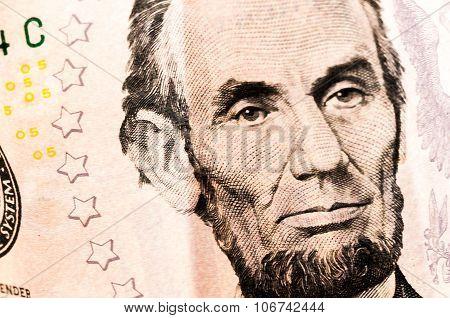 Money Five Dollar Bill