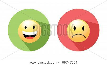 Smiley faces icons. Vector illustration.