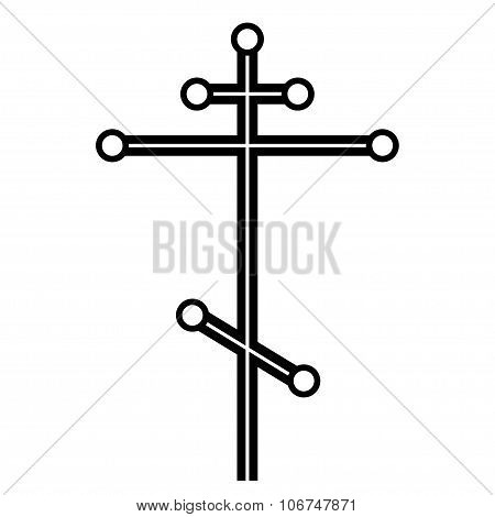 Black vector orthodox cross