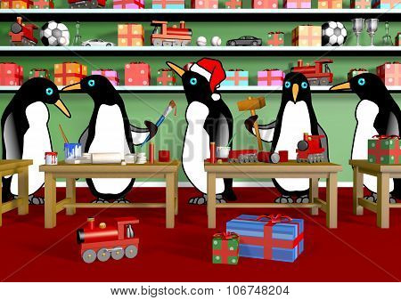 Christmas Penguin Workshop